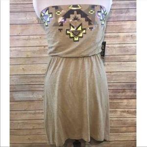 Express Dresses - Aztec sequin lo hi dress